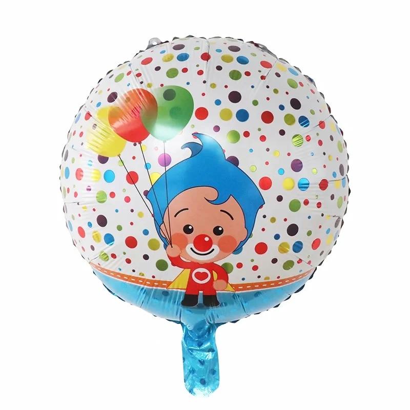 بالونات كرتونية على شكل مهرج ، 18 بوصة ، 50 قطعة ، زينة حفلات أعياد الميلاد ، هواء ، ألعاب أطفال