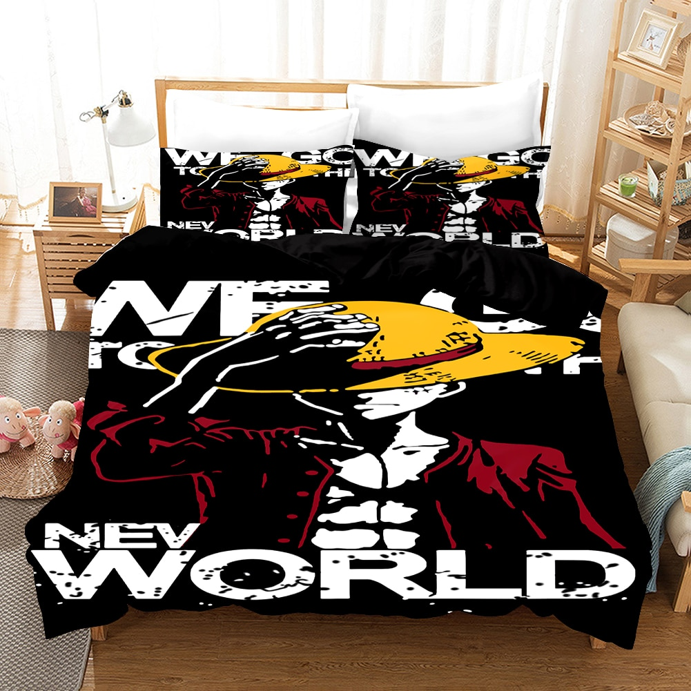 Anime One Piece 3D Print Comforter Bedding Set Kids Adult Duvet Cover Set Bed Home Gift Bed Linen Queen King Double Size
