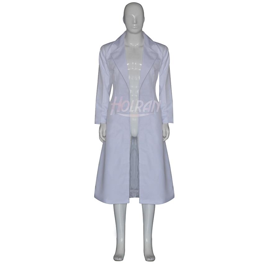 Estears de anime de ciencia ficción; Disfraz de cosplay de Gate role Okabe Rintarou, abrigo de viento blanco, espectáculo de uniformes Hououin Kyoma
