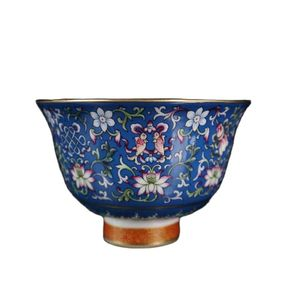 China Old Porcelain Gold And Pastel Bowl With Pattern of Eight Treasures Pattern China Food Bowl