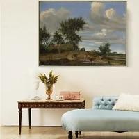 citon jacob van ruisdael%e3%80%8aa country road%e3%80%8bcanvas art oil painting landscape artwork poster picture wall decor home decoration