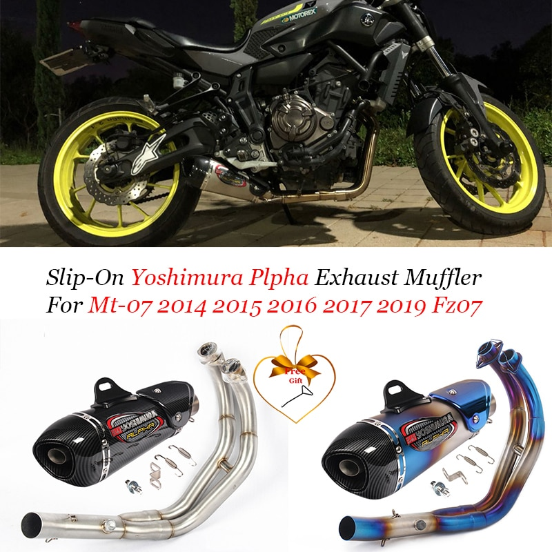 Full System For Yamaha Mt-07 Fz-07 2014 Mt07 Fz07 Mt 07 2015-2019 Xsr700 2019-2019 Motorcycle Yoshimura Plpha Exhaust System
