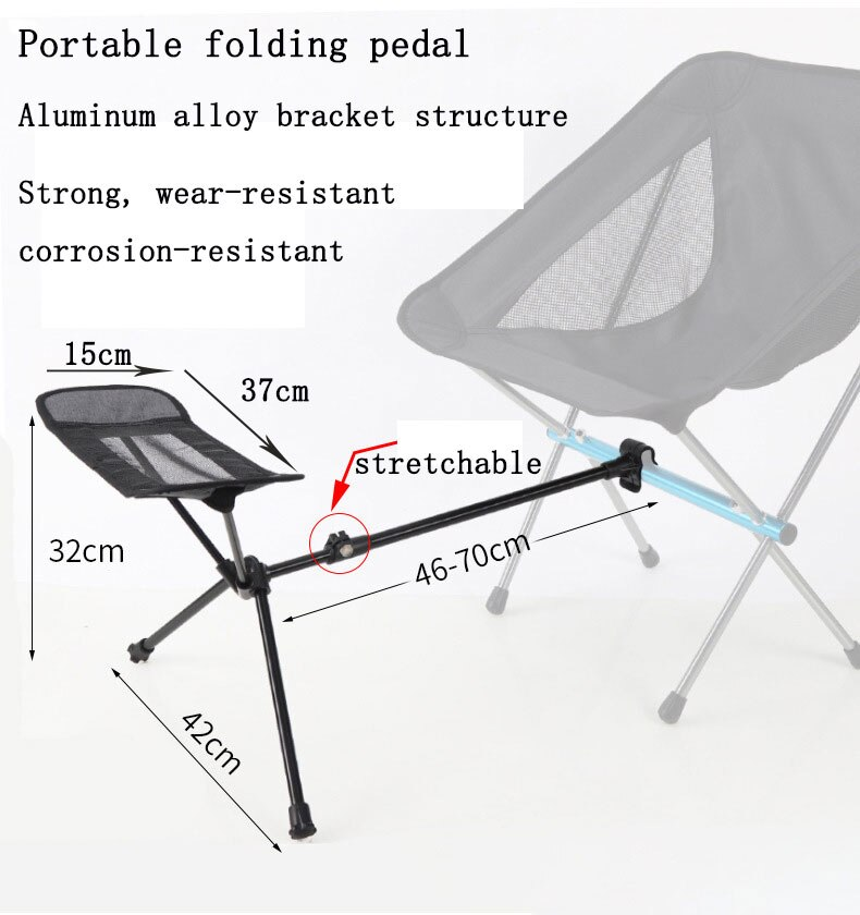 Outdoor Folding Camping Fishing Chair Footrest Portable Recliner Retractable Leg Chair Camping BBQ  Fishing Picnic Chair Stool enlarge