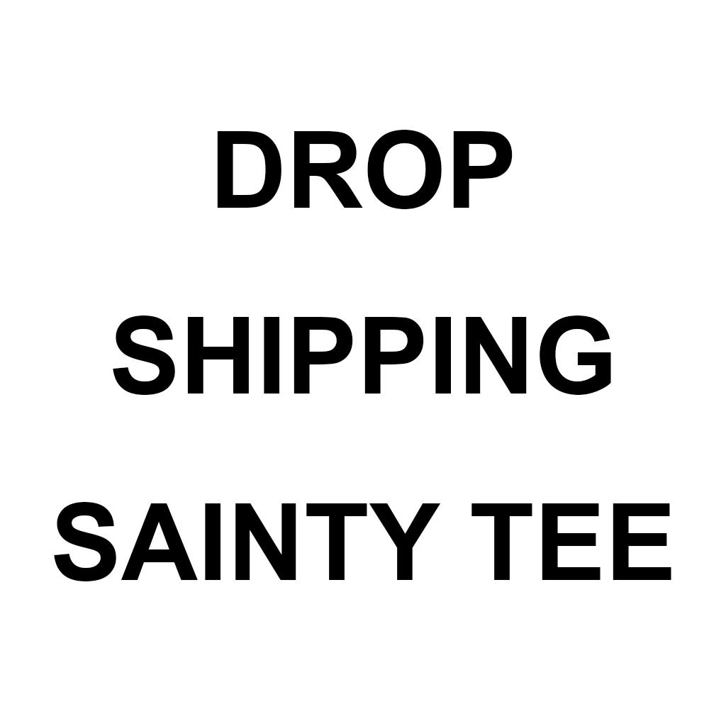 DROP SHIPPING SAINTY LOGO TEE SHIRT WOMEN'S INSTAGRAM T-SHIRT