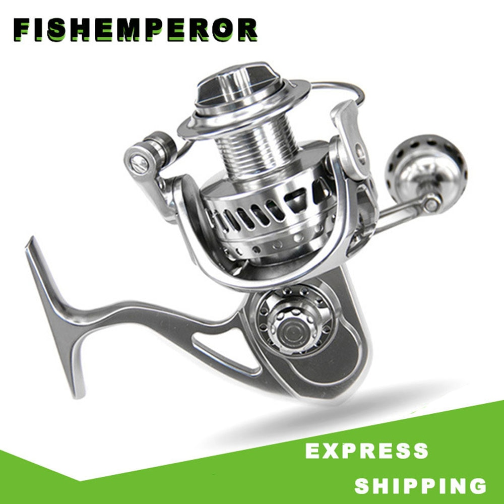 Spinning Salt Water Fishing Reel All-Metal Iron Plate Stainless Steel CNC Carbon Brake Casting Sea Wheel 5.5:1 Speed Ratio
