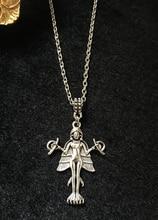 "Lilith   Innana   Ishtar Anhänger Halskette Dämon Sigil Anhänger Luciferian Satanic Amulett Talisman Kette 18 ""Halskette Occult"
