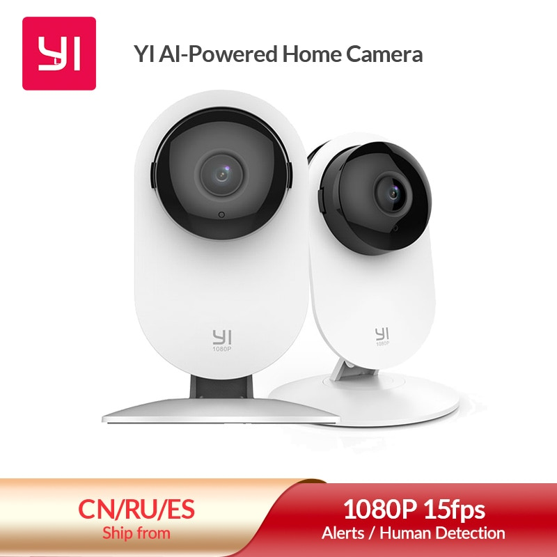 YI 1080p Home Camera Indoor AI Human /Pet Security Camera Surveillance System with Night Vision for Home/Office Monitor White