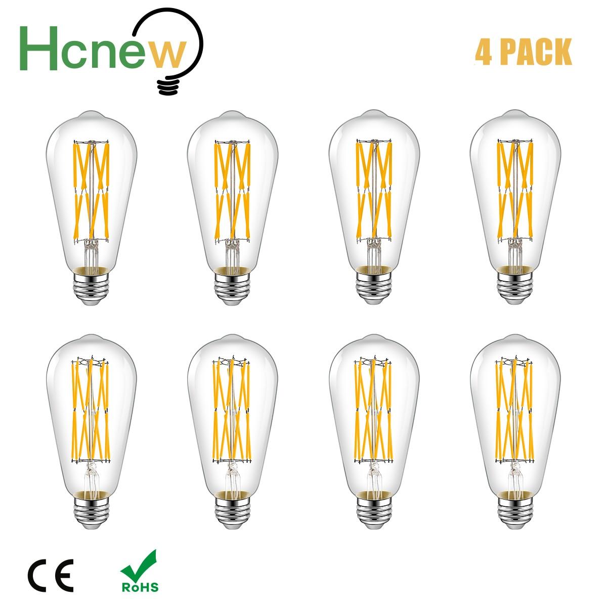E27 Винтаж светодиодный Лампа накаливания Эдисона ST64 16 Вт накаливания эквивалент 160W декоративные антикварные настенные лампы для дома Ванна...