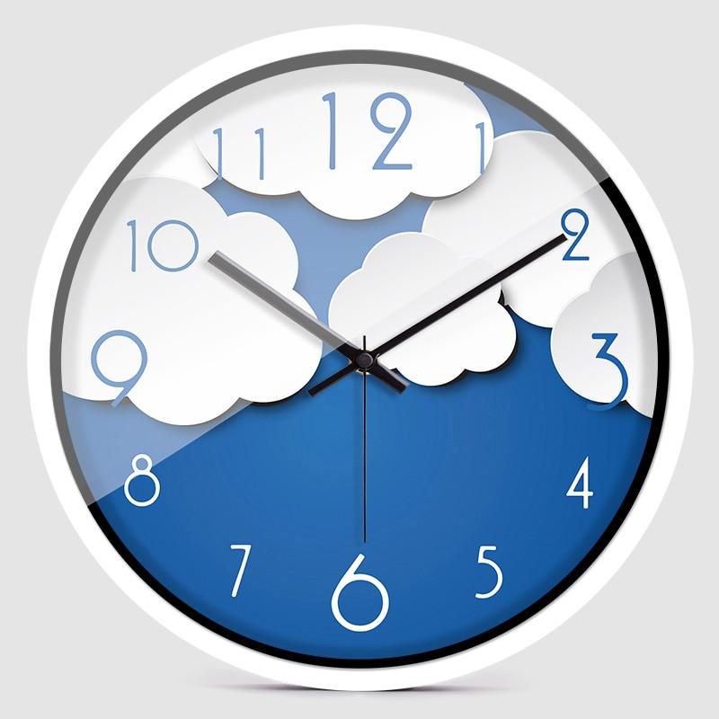 Reloj de pared Digital con diseño de nube y gato, reloj de cuarzo moderno y creativo para el salón Zb010