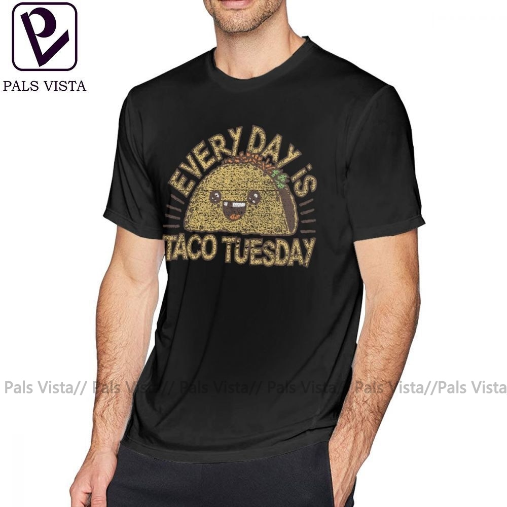 Taco T Shirt JEDEN TAG IST TACO DIENSTAG T-Shirt Gedruckt Kurz-Hülse T-shirt Baumwolle Spaß Casual Mann 5x t-shirt