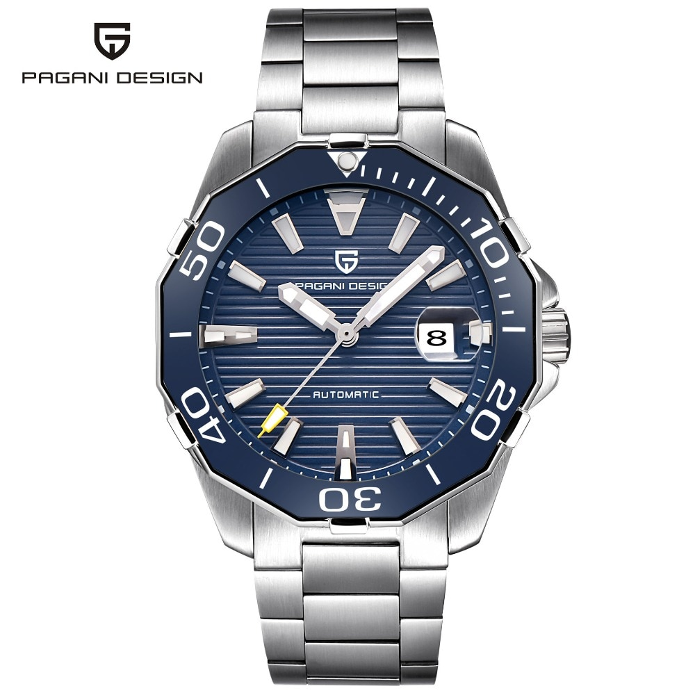 2021 New Brand PAGANI DESIGN 1617 Men's Military Sport Mechanical Watches Waterproof Stainless Steel