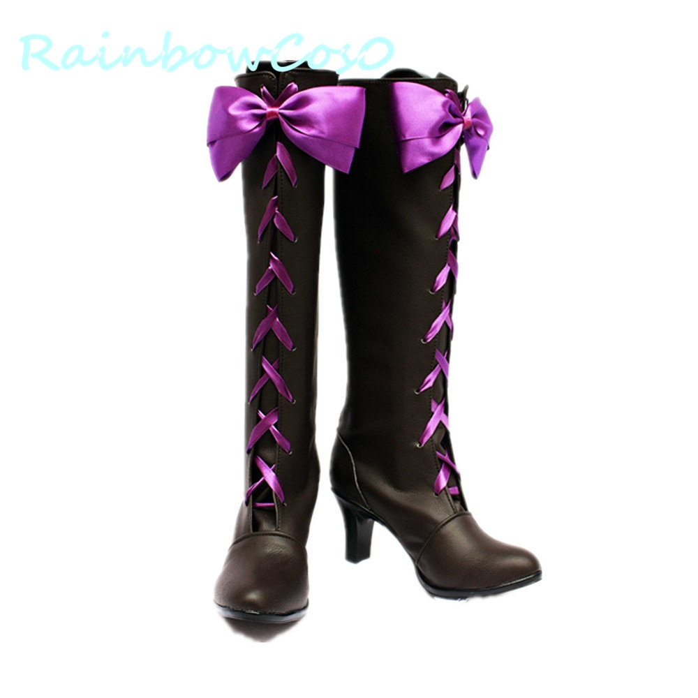 RainbowCos0 Cosplay Shoes Black ButlerⅡAlois Trancy Ciel Phantomhive Boots Game Anime Halloween
