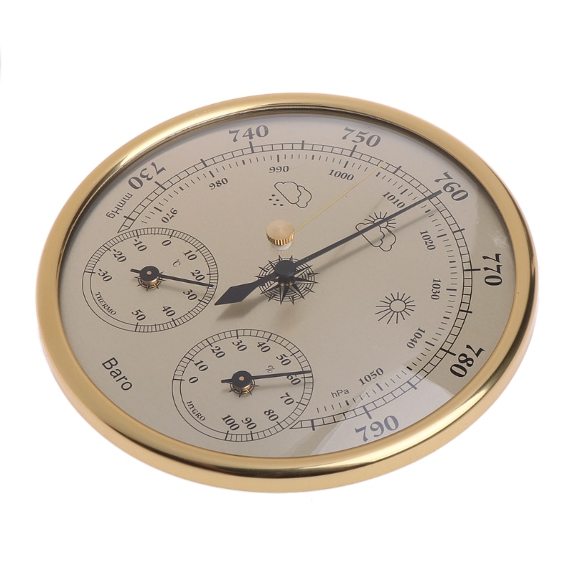 Wall Mounted Household Barometer Thermometer Hygrometer Weather Station Hanging Y4QC