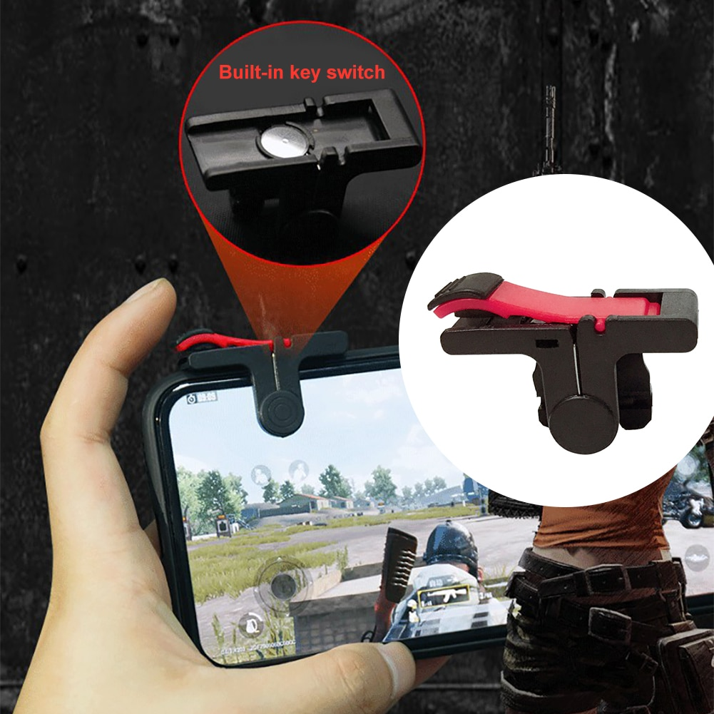 1 Pair D9 PUBG Mobile Game Controller Gamepad Trigger Aim Button Controller Joystick For iPhone Andr