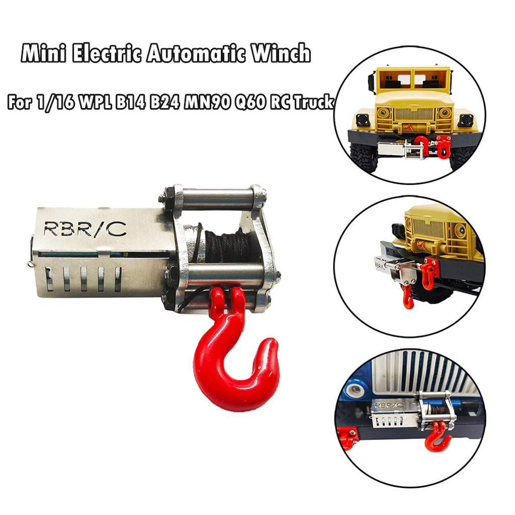 Electrical Automatic Winch For 1/16 WPL B14 B24 B26 C14 MN90 MN91 Q60 Q61 RC Truck Kids toys Juguete