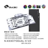 bykski water block use for asus dual rtx3070 8gtuf rtx3070 8g gaming gpu card full cover copper radiator block a rgb rgb