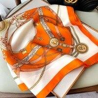 Женский квадратный шарф-платок с принтом, 70x70 см