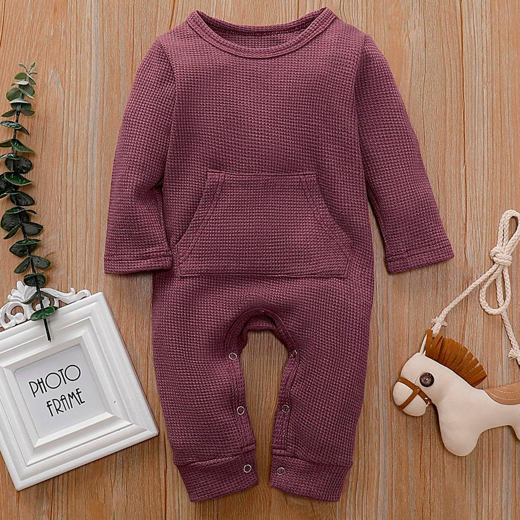 2019 kinder Herbst winter Kleidung Baby Kinder Jungen Mädchen Kleinkind Mit Kapuze Voll Body Overall Langarm Kleidung Outfits 0- 24M
