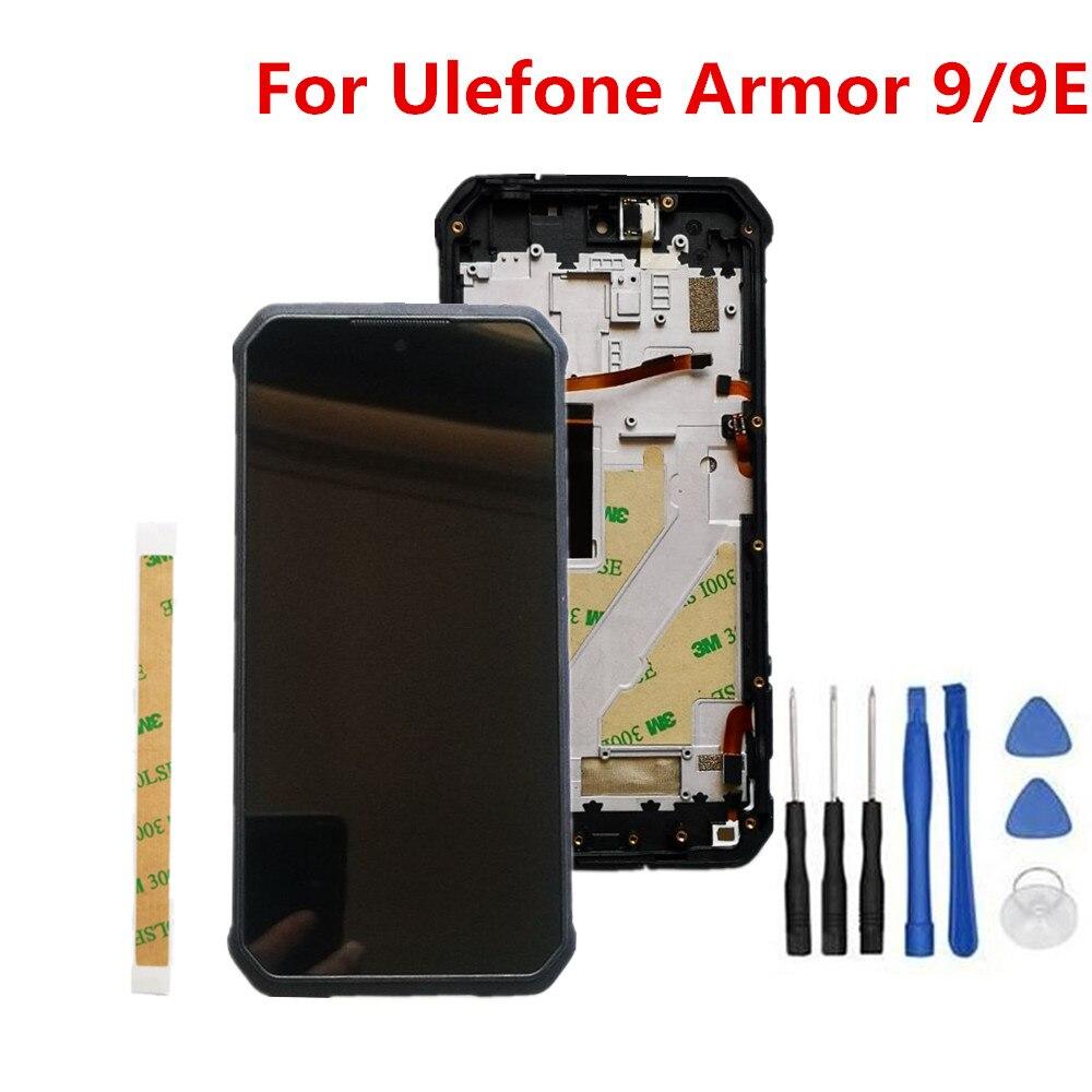 شاشة Ulefone Armor 9 9E 6.3 بوصة, شاشة FHD + شاشة هاتف LCD مع إطار + شاشة تعمل باللمس ، استبدال مجموعة المحولات الرقمية مع أدوات