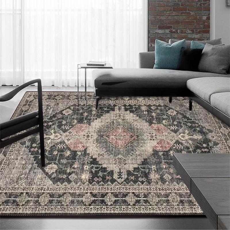 سجاد فارسي عتيق ، لغرفة المعيشة ، غرفة النوم ، النمط الأمريكي ، المغرب العرقي ، ريترو ، طاولة القهوة