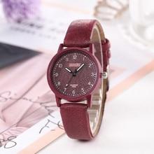 Simple Numerals Quartz Watches for Women 2021 Latest Leather Belt Wristwatch Ladies Watch Montre Fem
