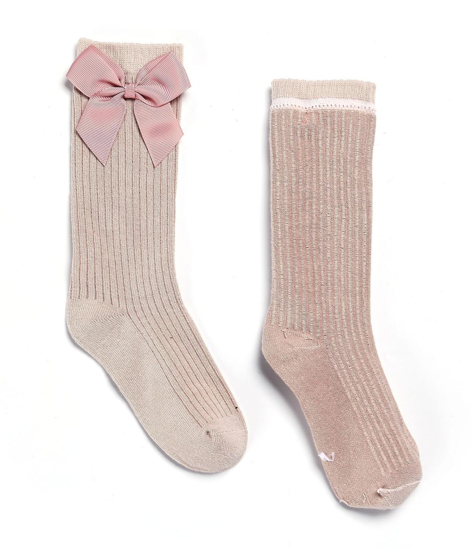 Детские носки гольфы для девочек с бантиками, гольфы в полоску для малышей Детские школьный носок, носки для малышей