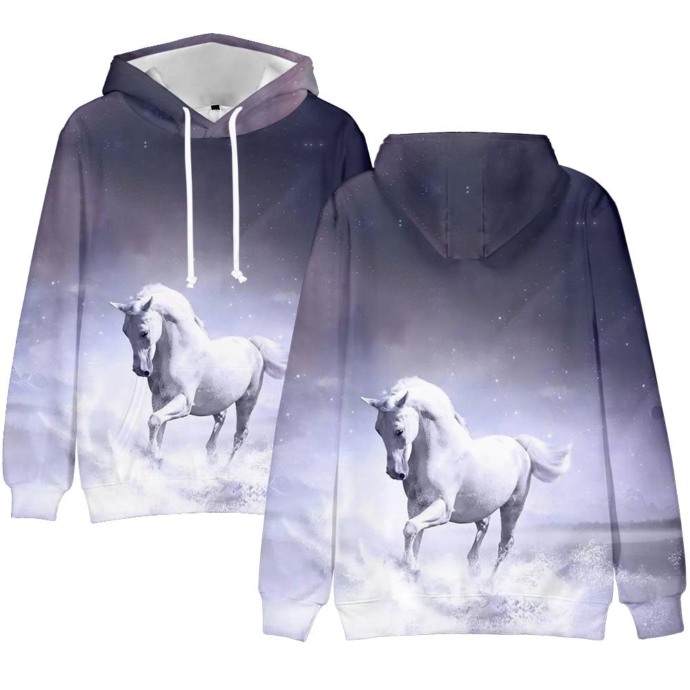 Horse Autumn Hoodies Men's and Women's Street Hoody Horse Print Unicorn Pullover Brand Design Teen Casual Clothing 3D Sweatshirt
