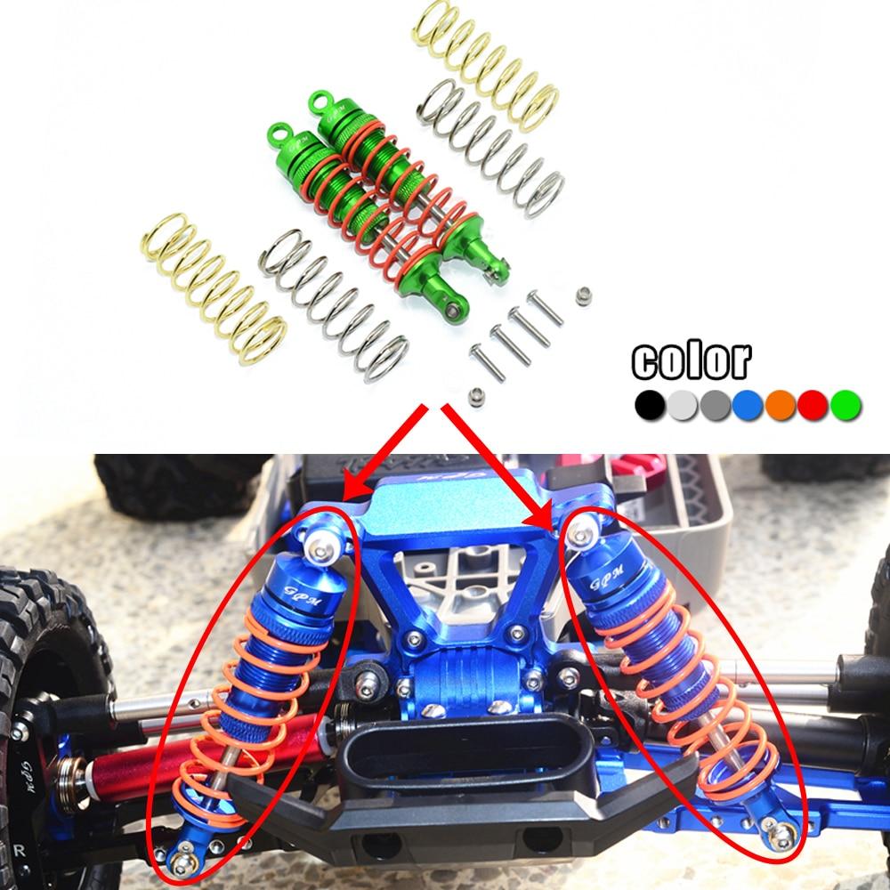 GPM معدن الألومنيوم 87 مللي متر الجبهة امتصاص الصدمات #5862 ل 1/10 TRAXXAS RUSTLER 67076-4 مائل 4X4 HOSS 90076-4 قصيرة دورة شاحنة