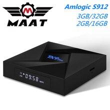 TX9 Pro Android 7,1 caja de TV Reproductor Multimedia Inteligente Amlogic S912 3GB RAM 32GB Rom Octa Core 2,4G/5GHz Dual Wifi 4K TX9Pro Set Top Box