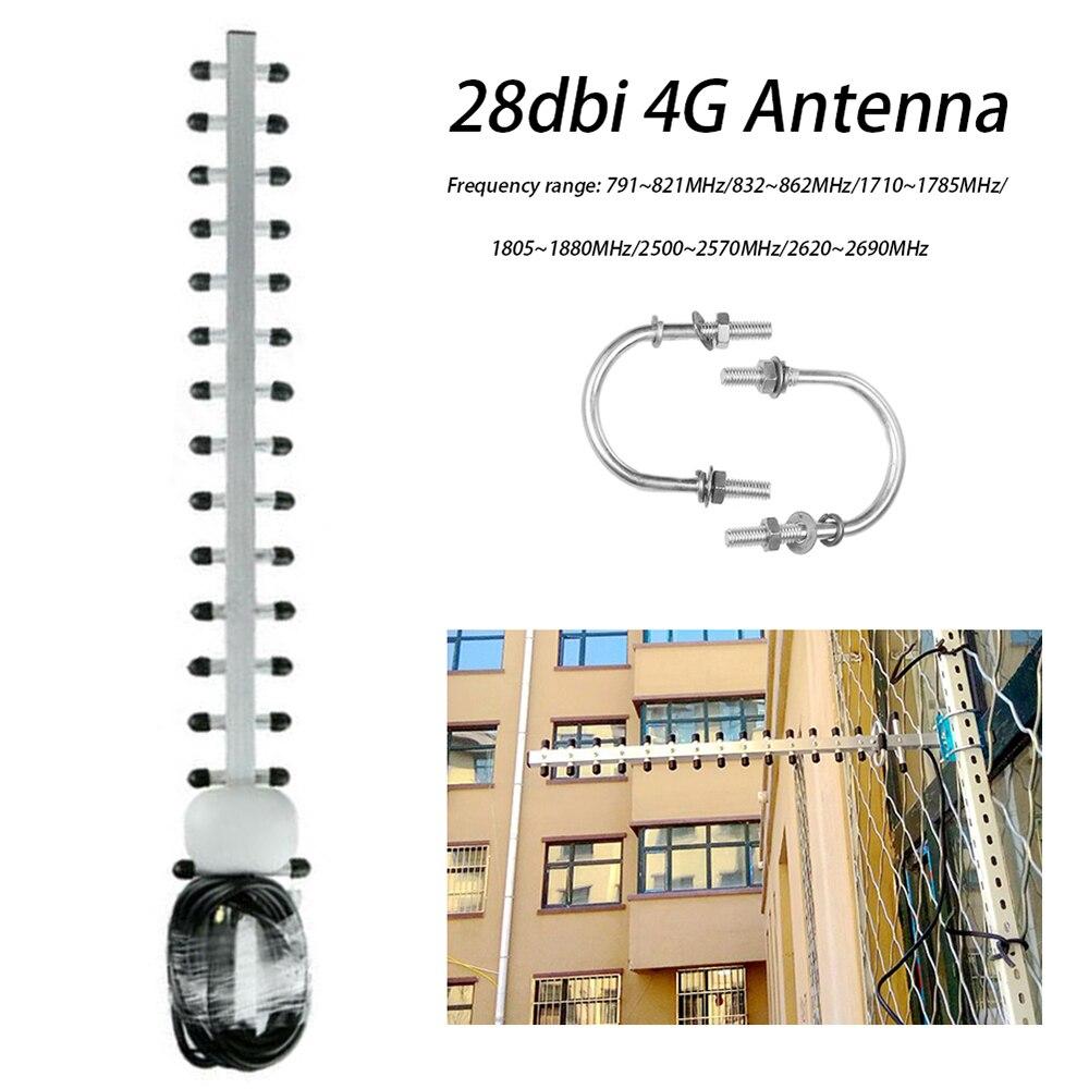 Усилитель 4G LTE 4G 28dbi антенна SMA Male WIFI сигнала уличный направленный усилитель Yagi антенный модем RG58 1,5 m