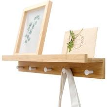 Bambú flotante montado en la pared perchero colgador de toallas soporte de estilo europeo vestido perchero pared puerta sombrero percha