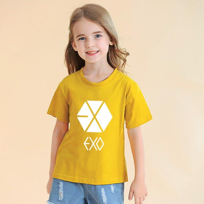Camiseta EXO Kpop, novedad de verano, de manga corta Camiseta de algodón,...