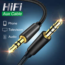 Jack Audio Cable Jack 3.5 mm Male to Male Audio Aux Cable For Samsung Xiaomi Car Headphone Speaker Wire Line Aux CordSpeaker