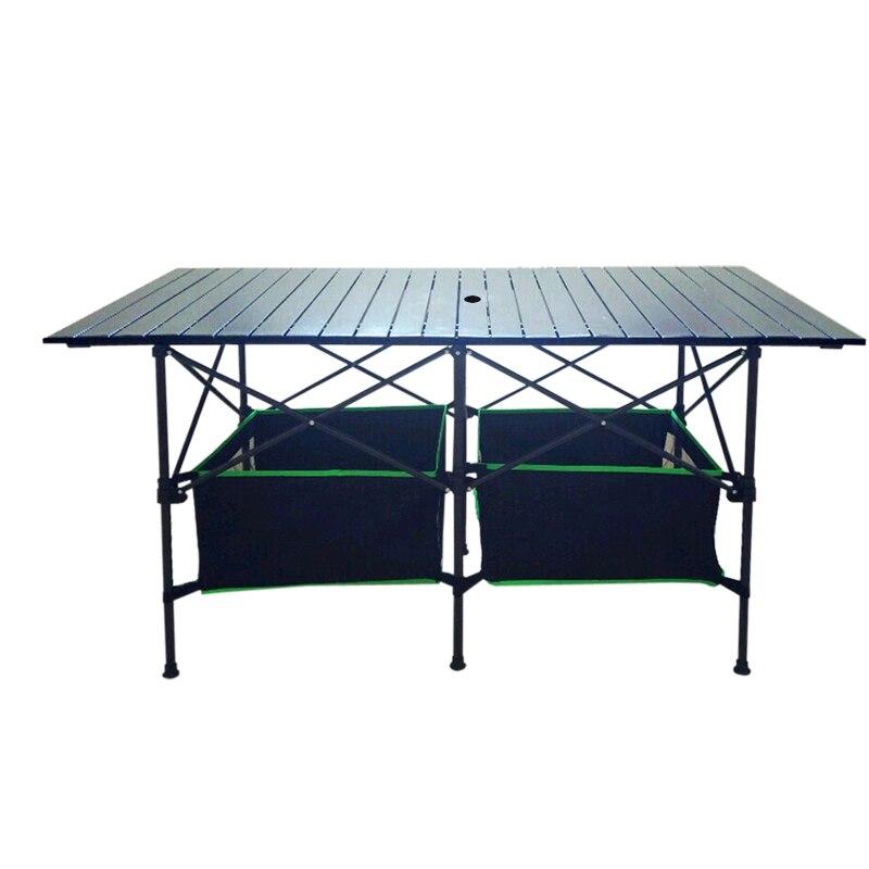Mesa Plegable para exteriores, Mesa portátil de aluminio, Plegable, multiusos, Mesa de...