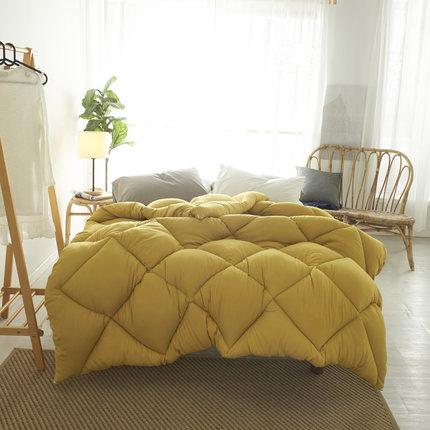 Pure Color Winter Quilt Duvet King Queen Twin Size Very Warm Winter Blanket Comforter Filler 1.5~3kg Weigte Down Quilt Duvet