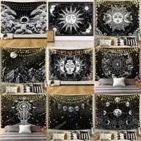 mandala white black sun and moon tapestry wall hanging gossip tapestries hippie wall rugs dorm decor blanket home decor tapestry
