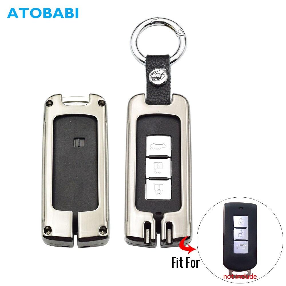 Брелок для ключей из цинкового сплава для Mitsubishi Outlander, Lancer 10 Pajero Sport ASX RVR L200 Smart Remote Fob Cover авто брелок