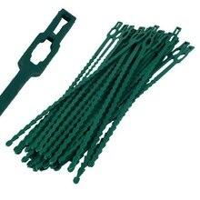 Cravate en plastique nylon autobloquant 50 pièces   Attache de câble, anneau de fixation, fermeture à glissière, usages multiples os de poisson, épine verte, liaison de jardin