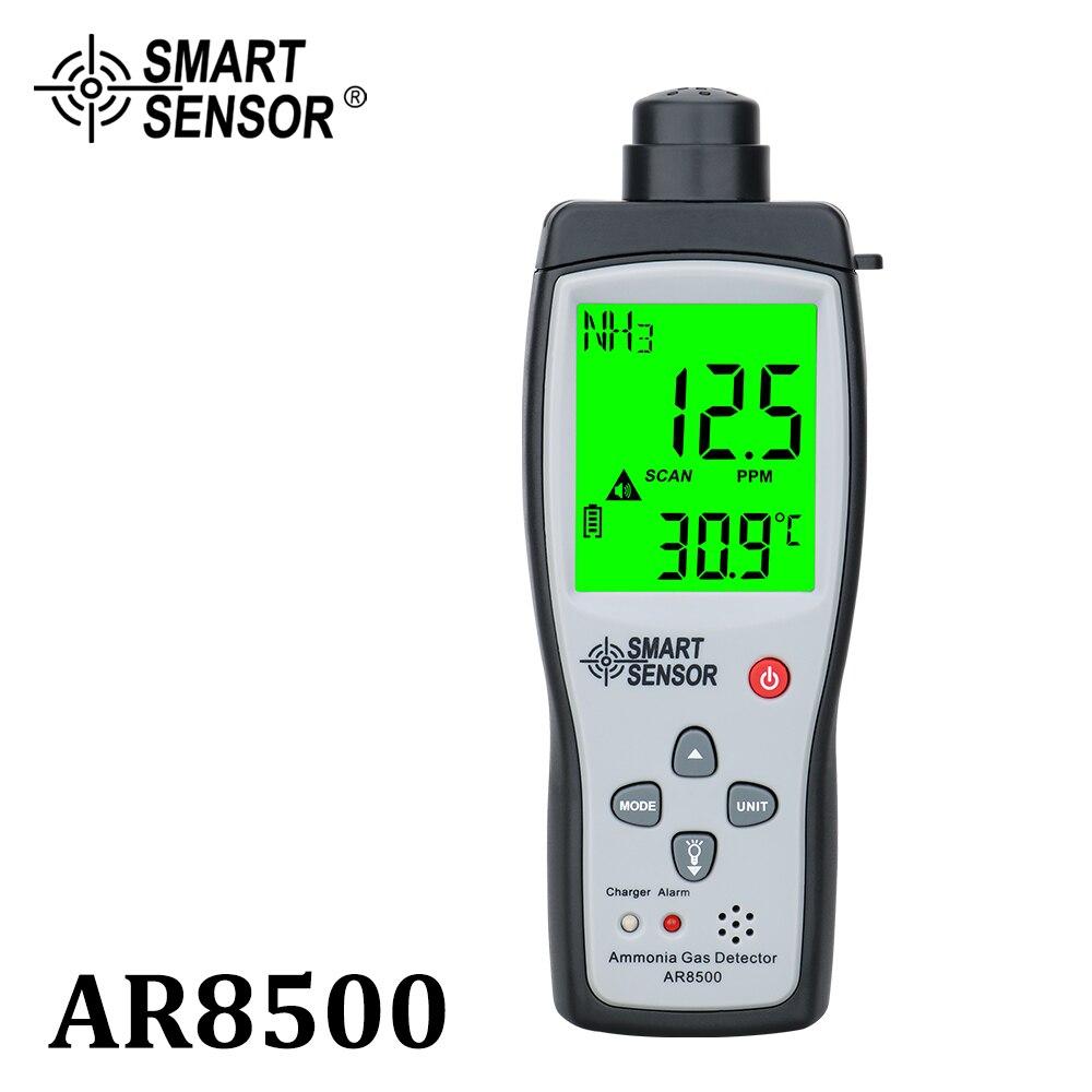 جهاز استشعار ذكي محمول باليد غاز الأمونيا NH3 كاشف متر اختبار نطاق الشاشة 0-100PPM ضوء الصوت إنذار الغاز محللات AR8500