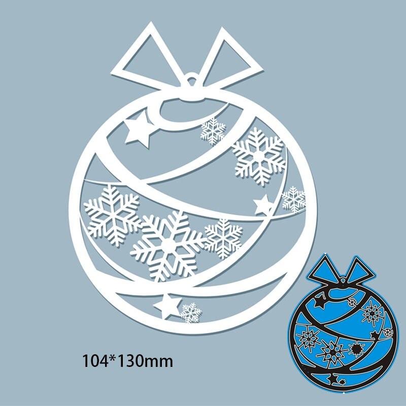104*130mm copo de nieve hueco regalo de bola de Metal de corte...