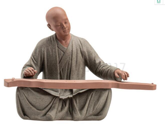 الكونغ فو صينية اكسسوارات ديكور buddhas أرقام الخزف الراهب التماثيل الشاي الحيوانات الأليفة ديكور المنزل