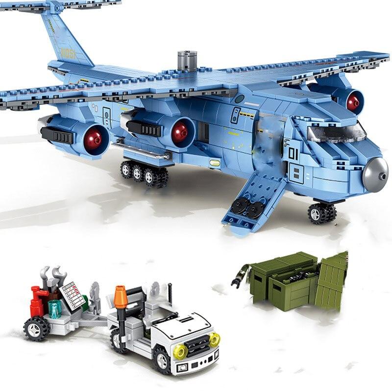 Military series Long-range strategic transport aircraft Soldier weaponry DIY model Building Blocks Bricks Toys Gifts