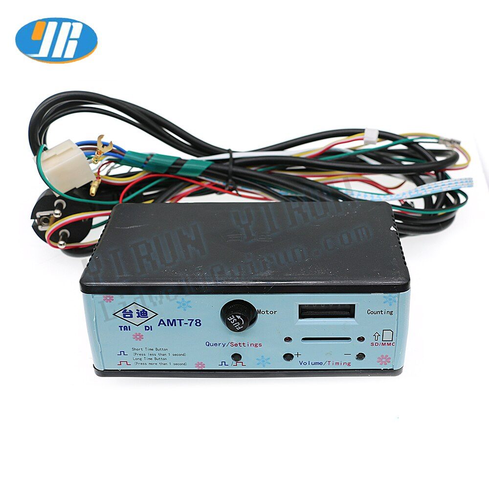 TAIDI AMT-78 9 + 1 Интерфейс для малышей едет игровой автомат качели английский контроллер времени 110V /220V коробка счетчик монет MP3 музыкальный плее...