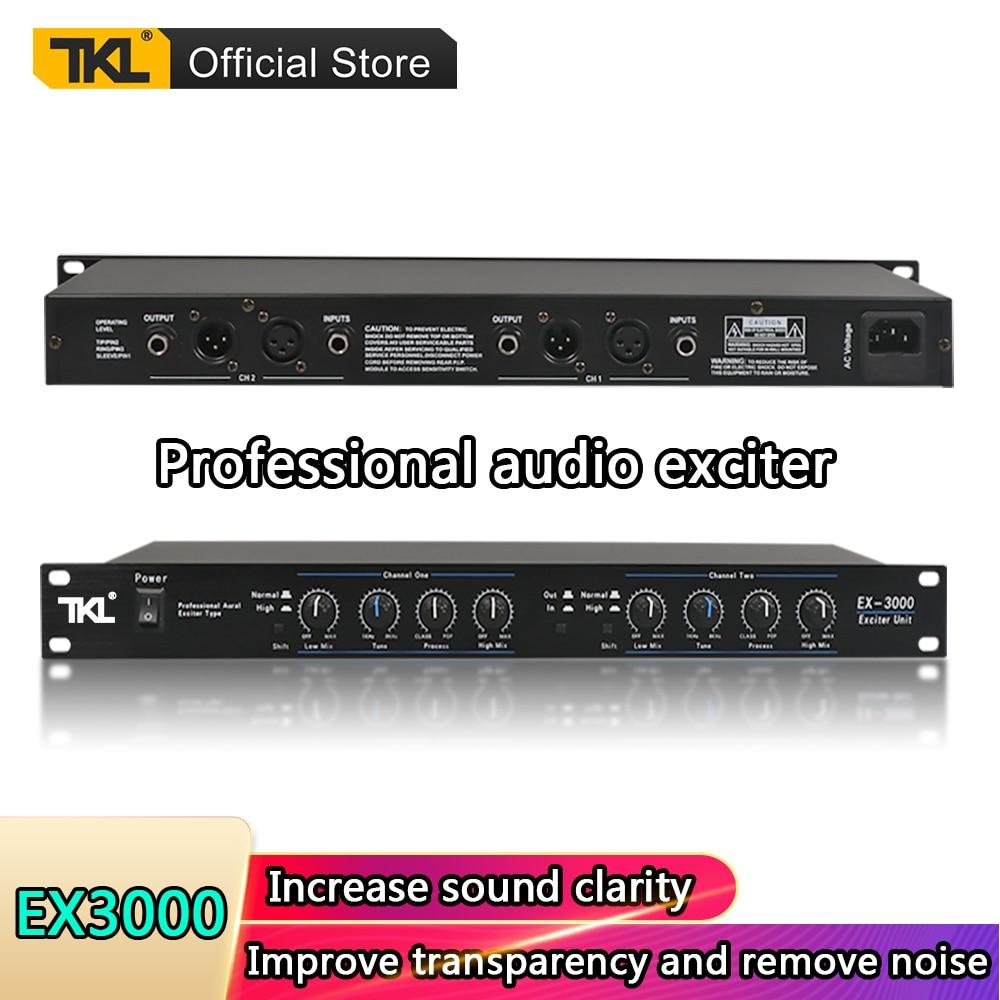 TKL EX-3000 المهنية الصوت المثير مرحلة الصوت المعالج 2 قنوات الصوت المعالج