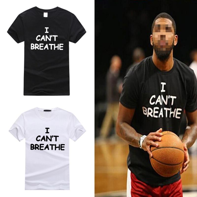 2020 Summer Women Man Tee Shirt Tops Quick Dry O Neck Loose Tshirt  I Can't Breathe Letter Print T Shirt Short Sleeve