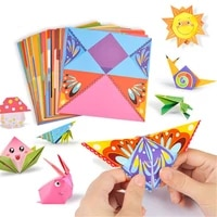 54 pcs children origami paper book for animal pattern 3d puzzle diy folding toy kids handmade kindergarten arts and crafts toys