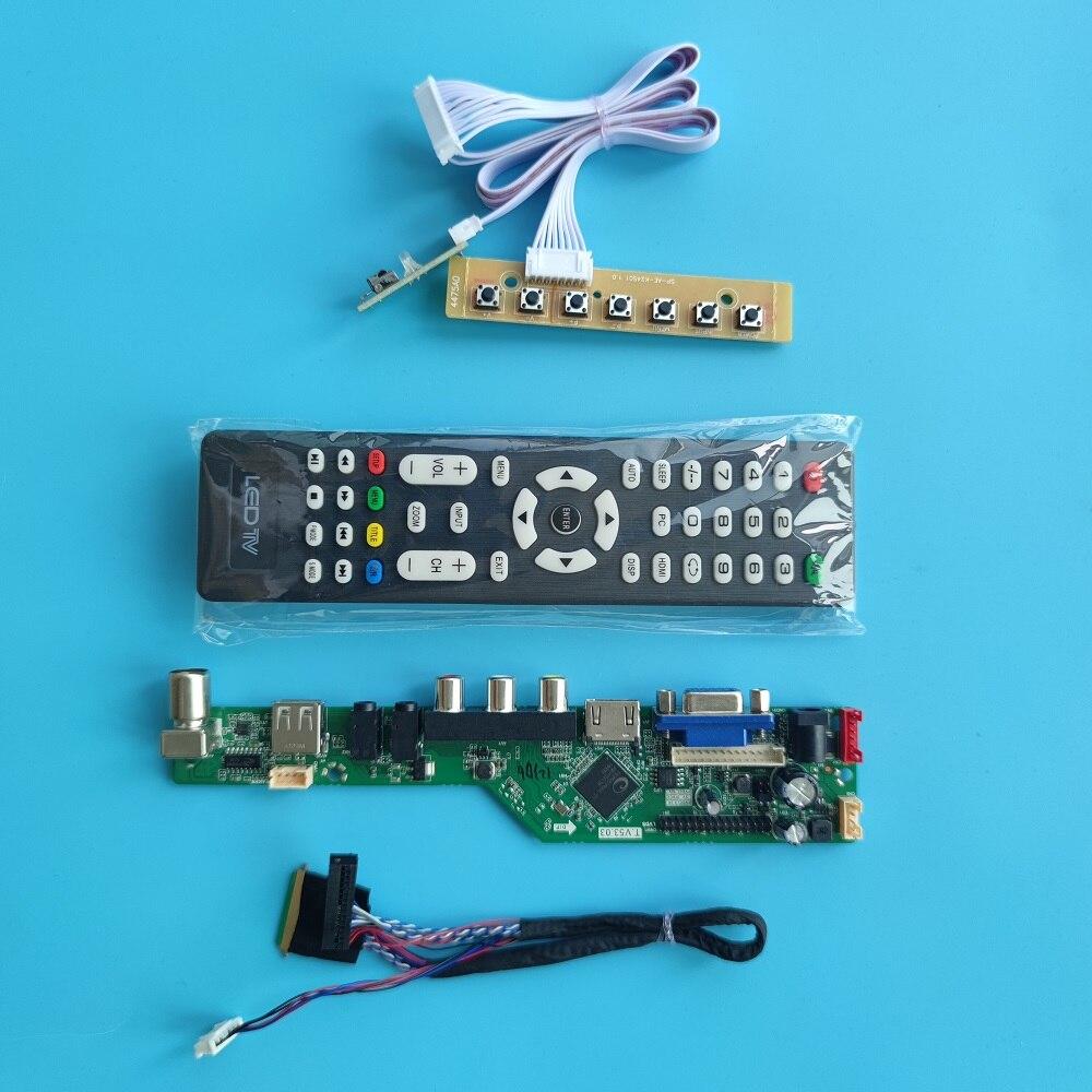 عدة لـ VGA USB AV B140XTN01/B140XTN02/B140XTN03/B140XTN06 1366*768 LED 60Hz عرض 40Pin محرك تحكم لوحة LVDS