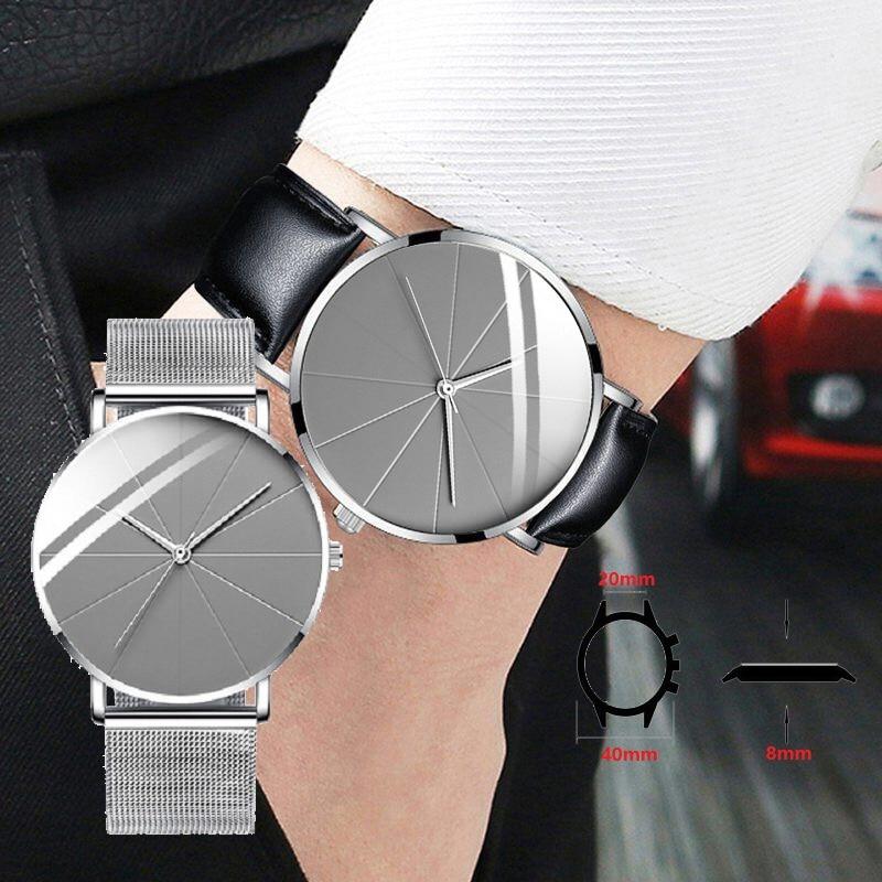 2021 Minimalist Top Men's watches Luxury Watch Fashion Quartz watch stainless steel Mesh Clock Gift Boyfriend Brand Men Watches