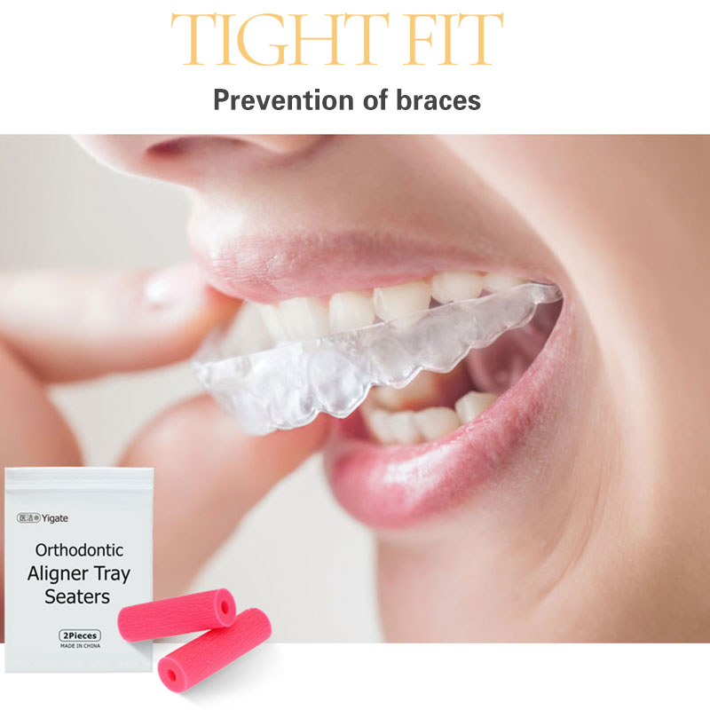 Mordedor de corrección Invisible Pro, morder con palo para ortodoncia, ortesis de goma, protección de los dientes, 2 uds