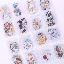 JIANWU A variety of expression stickers shape notebook stickers student stationery